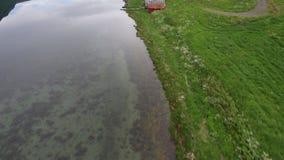 Fiorde norueguês perto de Sykylven video estoque