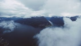Fiordes da Noruega ocidental video estoque