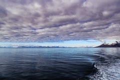 Fiordi di Longyearbyen, Norvegia sull'isola di Spitsbergen Immagine Stock Libera da Diritti
