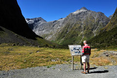 Fiordland新西兰 库存照片