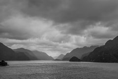 Fiordland National Park Scenic in - South Island of New Zealand Royalty Free Stock Images