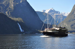 Fiordland Nationalpark, Neuseeland Stockfotografie
