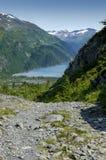 Fiordo de Alaska en día soleado brillante Imágenes de archivo libres de regalías