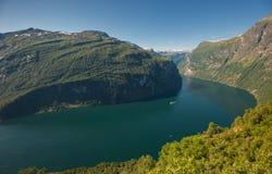 Fiordo de Geiranger, Noruega Imagen de archivo libre de regalías