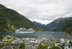 Fiordo de Geiranger, Noruega fotos de archivo