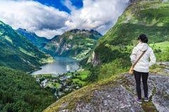 Fiordo de Geiranger, Noruega Imagenes de archivo