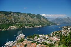 Fiordo de Kotor imagen de archivo libre de regalías