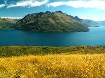 Fiordo de la montaña Fotografía de archivo libre de regalías