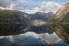 Fiordo de Nordrepollen Imagenes de archivo