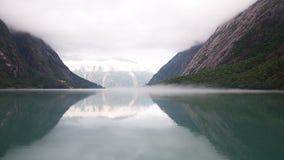 Fiordo de Noruega - Eidfjord Imagenes de archivo