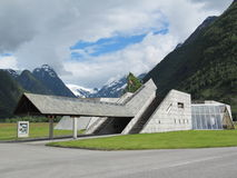 Fiordo de Noruega y museo del glaciar fotos de archivo libres de regalías