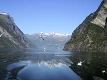 Fiordo de Norvegian Imagen de archivo libre de regalías
