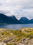 Fiordo de Norweigian Foto de archivo libre de regalías