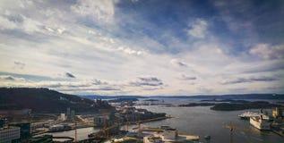 Fiordo de Oslo Imagen de archivo libre de regalías