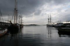 Fiordo de Oslo, Oslo, caminos Fotos de archivo