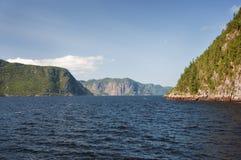 Fiordo de Saguenay Foto de archivo libre de regalías