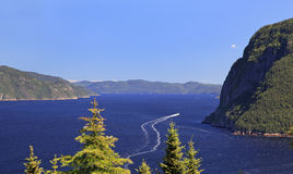 Fiordo de Saguenay, Quebec foto de archivo libre de regalías