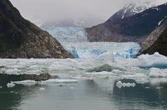 Fiordo del braccio di Tracy, ghiacciaio del Sawyer Fotografie Stock