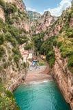 Fiordo di furore Costiera Amalfitana意大利 免版税库存照片