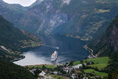 Fiordo di Geiranger in Norvegia Immagine Stock Libera da Diritti
