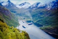 Fiordo di Geiranger, Norvegia Fotografia Stock