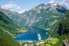 Fiordo di Geiranger in Norvegia Immagine Stock