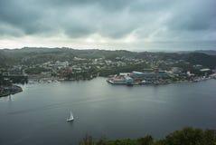 Fiordo en el puerto de Noruega Imagen de archivo libre de regalías