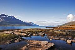 Fiordo en Noruega Fotos de archivo libres de regalías