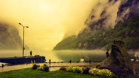 Fiordo en Noruega Imágenes de archivo libres de regalías