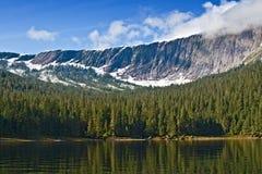 Fiordo nebbioso, Alaska Fotografia Stock