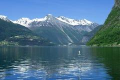 Fiordo Noruega Imagen de archivo libre de regalías