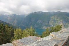 Fiordo noruego, Escandinavia Foto de archivo libre de regalías