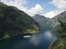 Fiordo in Norvegia Fotografia Stock