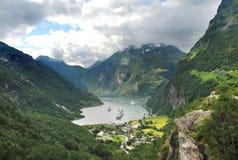 Fiordo Norvegia di Geiranger Immagine Stock