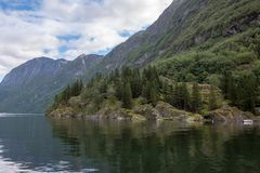 Fiordos de Norvegian fotos de archivo