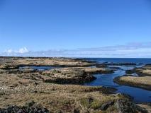 Fiordos en Islandia Fotos de archivo libres de regalías