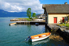 Fiordos en Noruega Fotografía de archivo