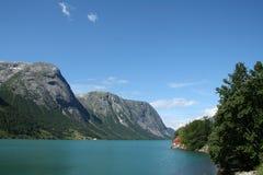 Fiordos noruegos Fotos de archivo libres de regalías