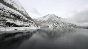 Fiordos noruegos almacen de metraje de vídeo