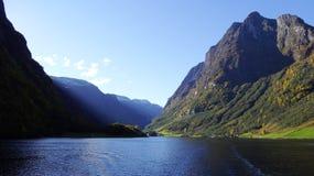 Fiordos noruegos fotografía de archivo