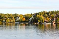 Fiordos suecos foto de archivo libre de regalías