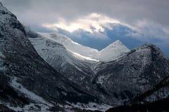 Fiords noruegueses Imagem de Stock Royalty Free