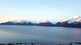 Fiords Seward Αλάσκα απόθεμα βίντεο