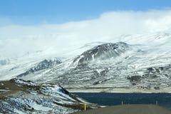 Fiords van het oosten in IJsland Royalty-vrije Stock Foto's