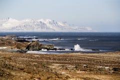 Fiords van het oosten in IJsland Stock Afbeeldingen