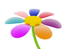 fiore 3d Fotografia Stock Libera da Diritti