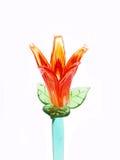 Fiore arancione del cristallo del fuoco Immagine Stock Libera da Diritti