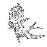 Fiore ardente di trasporto del sorso grafico illustrazione di stock
