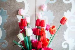 Fiore artificiale del tulipano Fotografia Stock