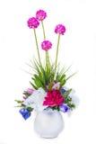 Fiore artificiale della decorazione isolato su fondo bianco Fotografia Stock